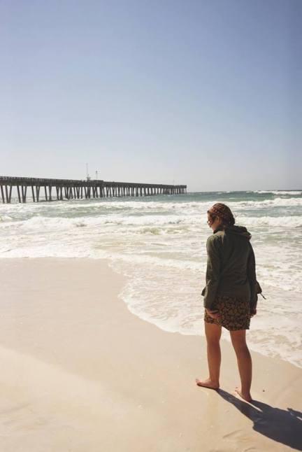 Kirsten on beach